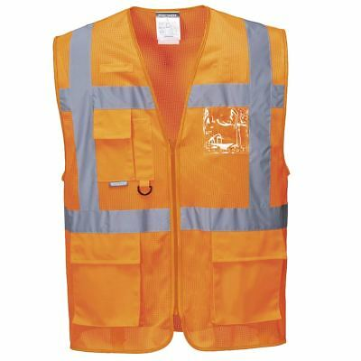 Portwest Athens Mesh Air High Visibility Executive Vest Jacket C376