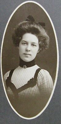 Cabinet Photo Portrait Of A Lovely Gibson Girl Wearing Pretty Dress Wooster Ohio