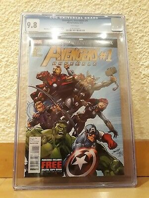 AVENGERS ASSEMBLE 1 CGC 9.8 WHITE pages 2012