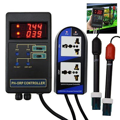 pH & ORP Redox Controller Water Quality Meter Tester 14.00pH / 1999mV Aquarium