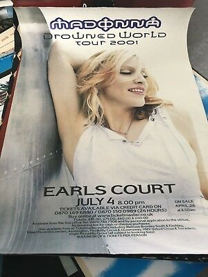 Madonna Drowned World Tour Poster Earl's Court