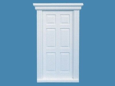 White Front Door 1:12 Scale, Dolls House Miniature, Door Doll House, Miniatures