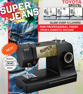 Toyota Super Jeans 17XL - Supports thicker thread - Stretch Stitches - Ergonomic