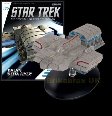 Eaglemoss Star Trek: Dala's 'Delta Flyer' Issue 135 Model & Magazine - New
