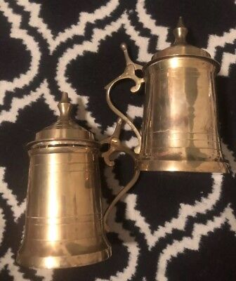 VINTAGE BRASS LIDDED Beer Stein Made in India - $3 00 | PicClick