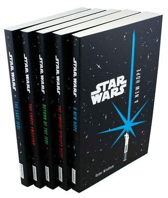 Star Wars 5 Book Collection Ryder Windham A New Hope, The Empire Strikes Back,