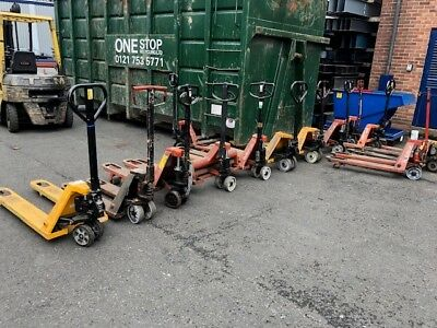 Various used pallet trucks for sale all just serviced and in full working order