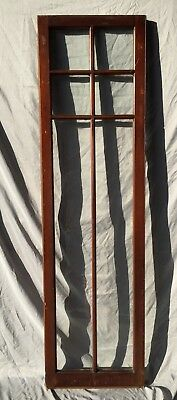Antique Varnished 6 Lite Casement Door Window Cabinet 18x66 Vintage Old 231-18C