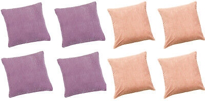 CLEARANCE Pack Of 4 Jumbo Cord Cushion Covers 17inx17in (43cmx43cm) Approx