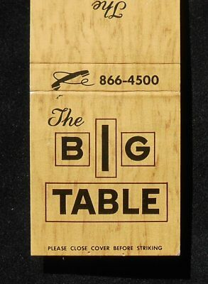 1960s The Big Table 7526 Pulaski Highway Baltimore MD Matchbook Maryland