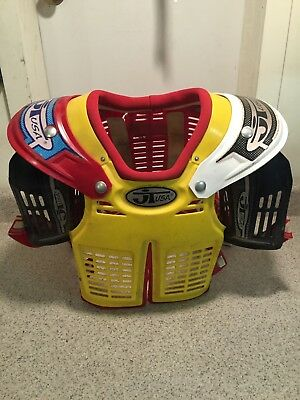JT Racing V2000 Vintage motocross Chest Protector Shoulder Pads AHRMA VMX J.T.