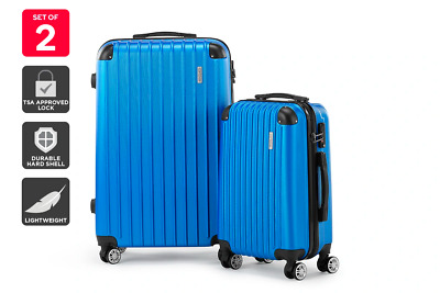 Orbis 2 Piece Maui Spinner Luggage Set (Royal Blue)
