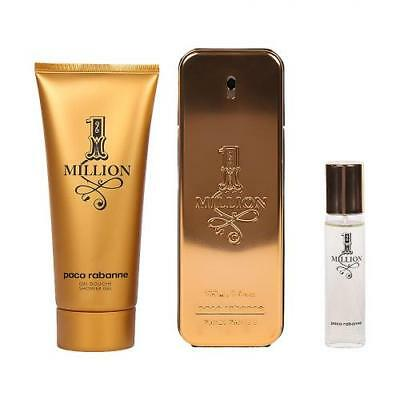 1 One Million Paco Rabanne EDT Spray for Men 3.4 oz.Gift Set