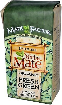Organic Yerba Mate Loose Herb Tea, The Mate Factor, 12 oz Fresh Green