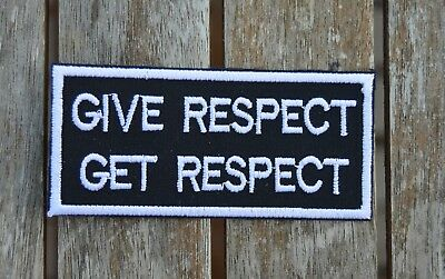 patch , GIVE RESPECT, GET RESPECT, broder et thermcollant 4/9cm
