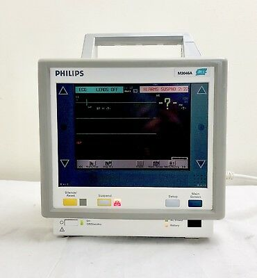 PHILIPS M3 M3046A PATIENT MONITOR WITH M3000A MODULE SpO2 ECG NIBP