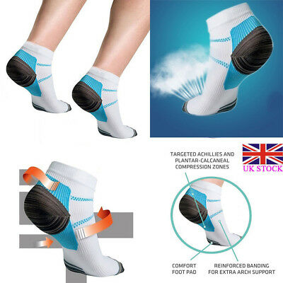 Plantar Compression Socks Fasciitis Heel Foot Arch Pain Relief Support Ankle UK