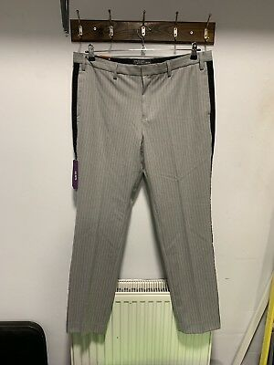 Primark Mens Fashionable Smart Trousers Size W38 L32 Mew With Tags Slim Fit
