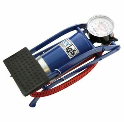 New Single Barrel Cylinder Air Inflator Foot Pump Van Car Bicycle Bike Tyre