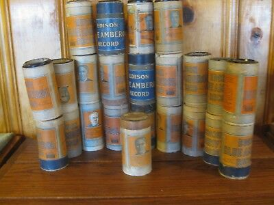23 4 Minute Amberol Phonograph Cylinders