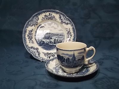 Johnson Brothers Old Britain Castles Tea Cup Saucer & Plate Trio