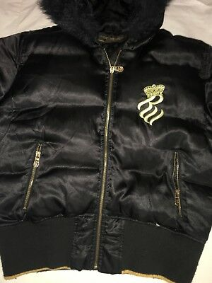 WOMENS ROCAWEAR PUFFER Jacket Coat. Black Gold -  65.00  7739ad3dc