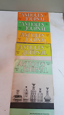 1965 / The Antiques Journal-- March, May, June, Sept, Oct /  5 Total Magazines