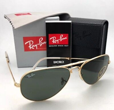 b6b0f6bb01 RAY-BAN Folding AVIATOR Sunglasses RB 3479 001 58-14 Gold Frames G-