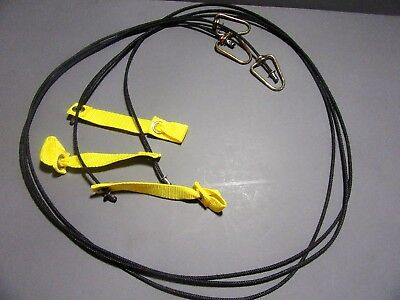 Tie Cords for Poultry, Chickens THREE CORDS 6ft Each Nylon Hitches