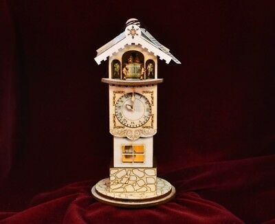 Christmas Ginger Cottage GC109 Clock Tower USA America NIB Ornament Village