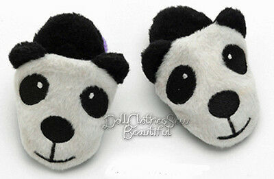 "LIQUIDATION SALE Panda Bear Scuff Slippers for 18"" American Girl Doll Clothes"