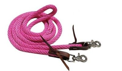 Showman PINK 8' Derby Nylon Barrel Reins With Scissor Snap Ends! HORSE TACK!