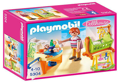 Playmobil Dollhouse Baby Room with Cradle (for Kids 4 to 10) 5304