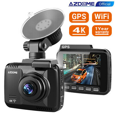 Ultra HD 4K Autokamera Dashcam AZDOME WIFI GPS 170° Weitwinkel Video Recorder