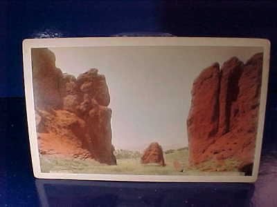 Orig Late 19th W.E.HOOK Cabinet Card PHOTO Colorado GATEWAY GARDEN Of The GODS
