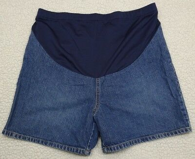 Old Navy Maternity Size M Denim Jean Shorts with Adjustable Waist Band