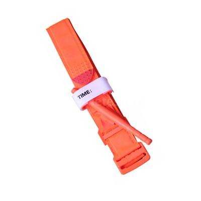 3PCS Tourniquet Rapid One Hand Application Emergency Outdoor First Aid Orange