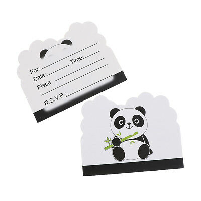 10pcs Panda Theme Invitations Cards Kids Birthday Wedding Party