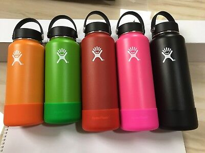 18/32/40OZ Hydro Flask Insulated Wide Mouth Water Bottle W/FlexCap+FlexBoot