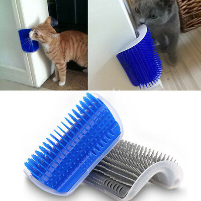 Pet Cat Self Groomer Brush Wall Corner Grooming Massage Comb Toy With Catnip Lot