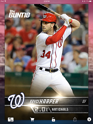 BRYCE HARPER NATIONALS GOLD 2.0x BASE 2018 Topps BUNT Digital Card Trader