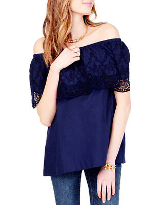 Ingrid & Isabel Womens  Off The Shoulder Lace Top, S