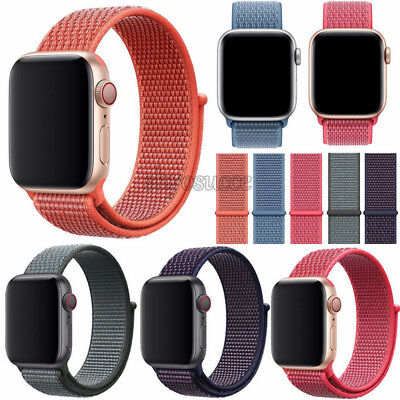 Für Apple Watch Nylongewebte Band Nylon Sport Loop Armband Series 4 40/44mm