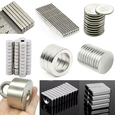 Round Disc Block Strong Magnets Rare Earth Neodymium with Hole N52 N50 N35