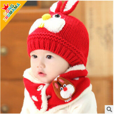 Children's Cap Winter Warm Hat for Girls Boys Baby Casual Caps Ball Knitted