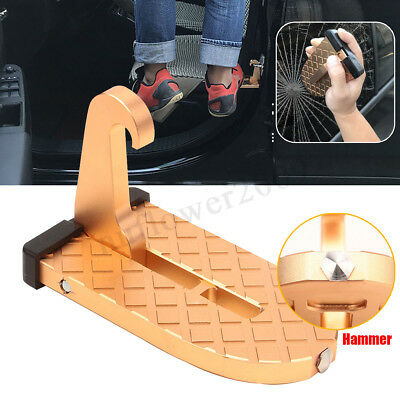 Car Truck Doorstep Roof Ladder Foot Stand Door Latch Step Rooftop Pedal Alloy