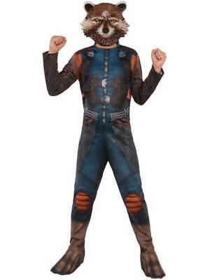 Child Rocket Raccoon Fancy Dress Marvel Costume Guardians Of The Galaxy Kids