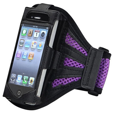 Deluxe Armband for iPod touch 2G/3G (Black/Purple) Y3F9