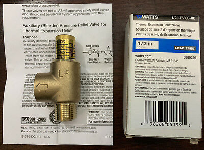 "Watts LF530C 1/2"" Lead Free Calibrated Adjustable Pressure Relief Valve 50-175Ps"