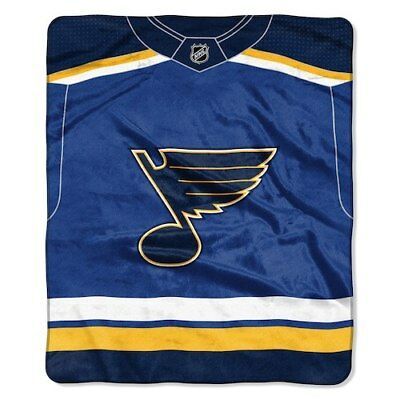 NEW NHL ST Louis Blues Large Soft Fleece Throw Blanket 50